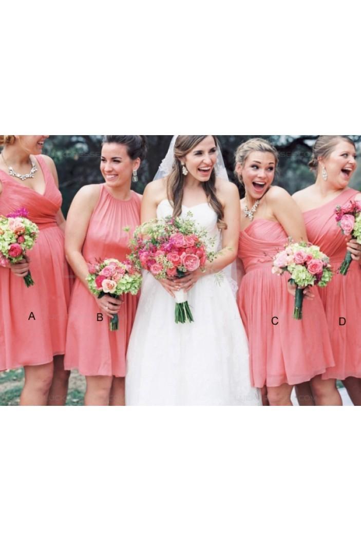 Short Chiffon Wedding Guest Dresses Bridesmaid Dresses 3010124