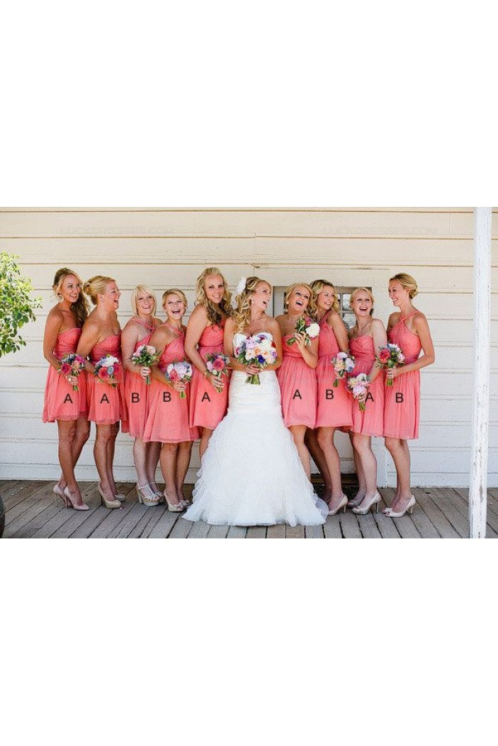 Short Chiffon Wedding Guest Dresses Bridesmaid Dresses 3010129