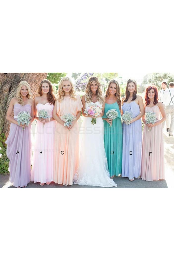 Long Chiffon Wedding Guest Dresses Bridesmaid Dresses 3010134