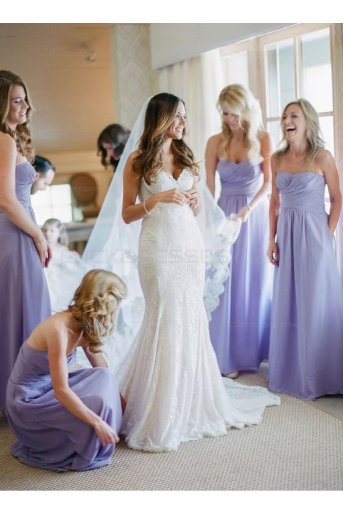 Floor-Length Sweetheart Chiffon Wedding Guest Dresses Bridesmaid Dresses 3010138