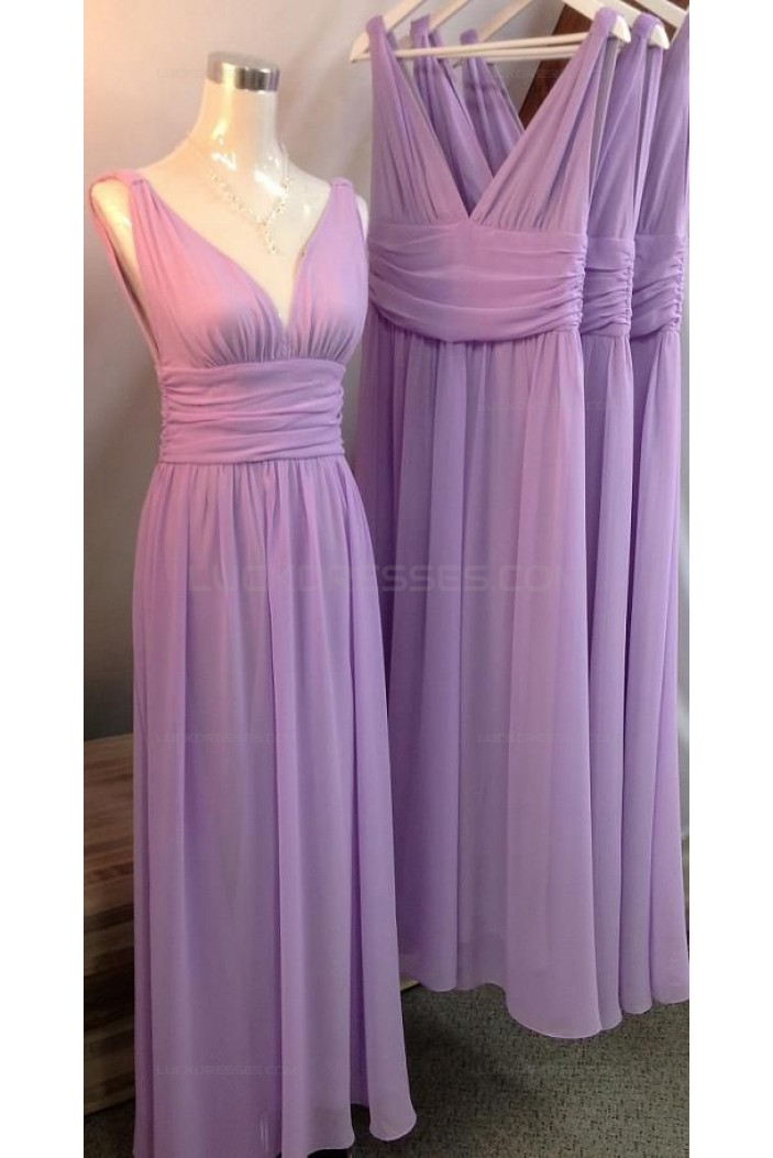 Straps Sleeveless Long Chiffon Wedding Guest Dresses Bridesmaid Dresses 3010141
