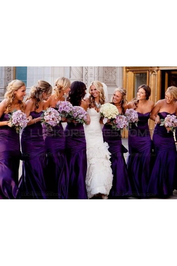 Sheath Long Purple Wedding Guest Dresses Bridesmaid Dresses 3010143