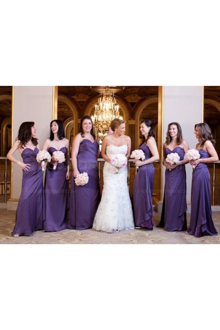Sweetheart Long Chiffon Wedding Guest Dresses Bridesmaid Dresses 3010146