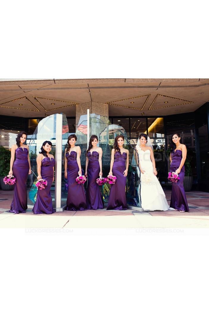 Sheath Long Purple Wedding Guest Dresses Bridesmaid Dresses 3010151