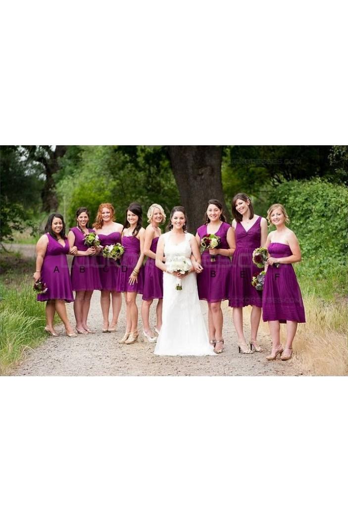 Short Purple Wedding Guest Dresses Bridesmaid Dresses 3010152