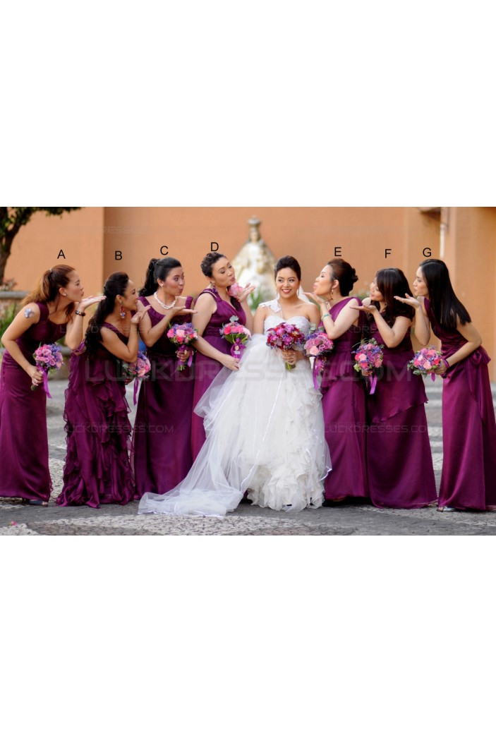 Long Purple Wedding Guest Dresses Bridesmaid Dresses 3010153