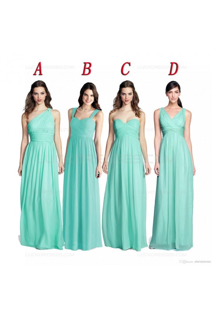 Mint Green Long Chiffon Wedding Guest Dresses Bridesmaid Dresses 3010159