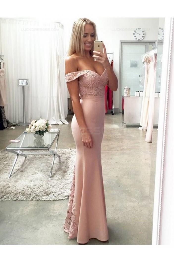 Mermaid Off-the-Shoulder Lace Wedding Guest Dresses Bridesmaid Dresses 3010173