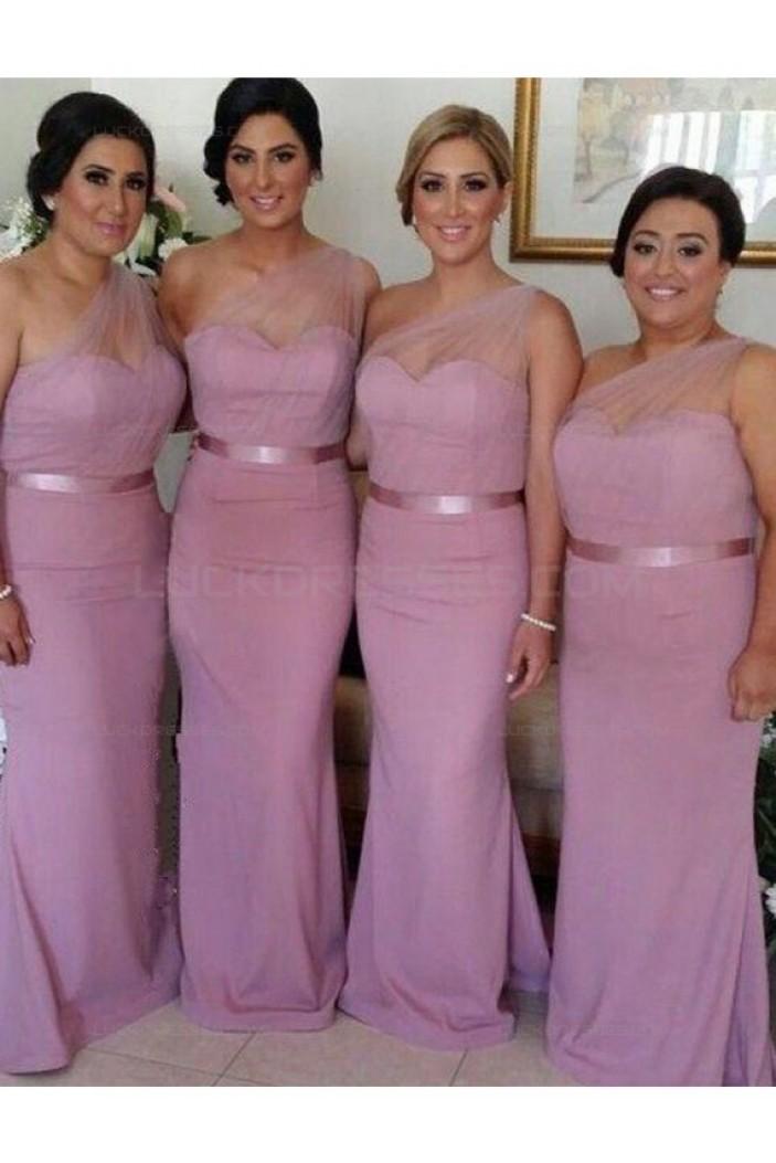Mermaid One-Shoulder Long Wedding Guest Dresses Bridesmaid Dresses 3010176