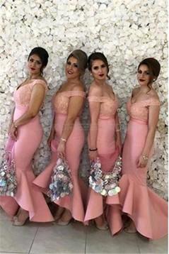 Mermaid Off-the-Shoulder Lace Wedding Guest Dresses Bridesmaid Dresses 3010185