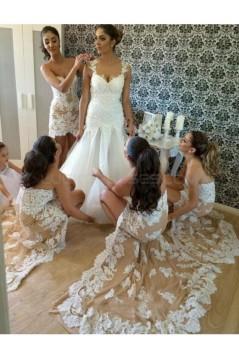 High Low Lace Wedding Guest Dresses Bridesmaid Dresses 3010186