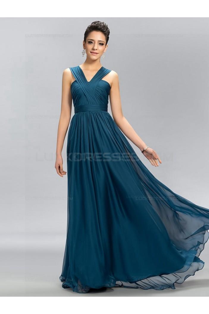 A-Line Long Chiffon Wedding Guest Dresses Bridesmaid Dresses 3010188