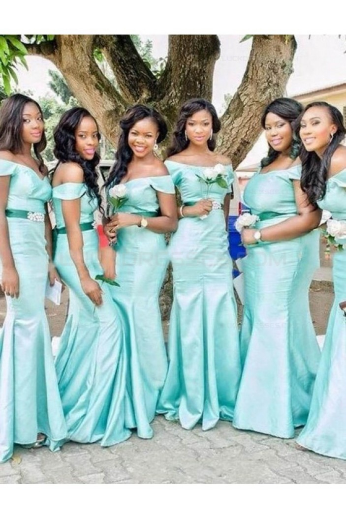 Mermaid Off-the-Shoulder Long Wedding Guest Dresses Bridesmaid Dresses 3010192
