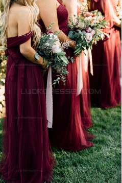 Long Burgundy Wedding Guest Dresses Bridesmaid Dresses 3010194