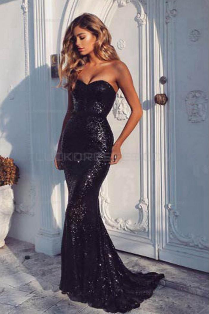 Mermaid Sequins Long Wedding Guest Dresses Bridesmaid Dresses 3010196