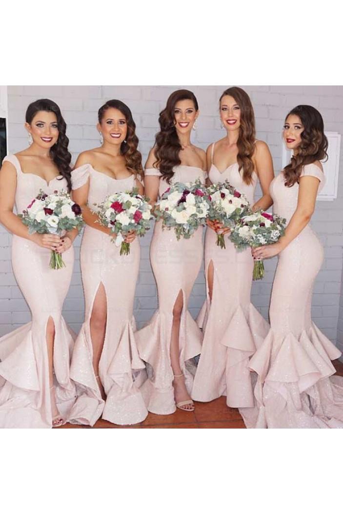 Sexy Mermaid Side Slit Wedding Guest Dresses Bridesmaid Dresses 3010203