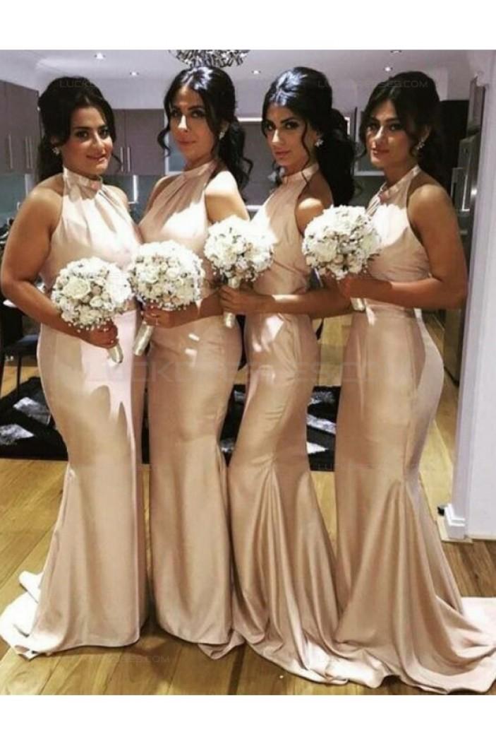 Mermaid Halter Long Wedding Guest Dresses Bridesmaid Dresses 3010208