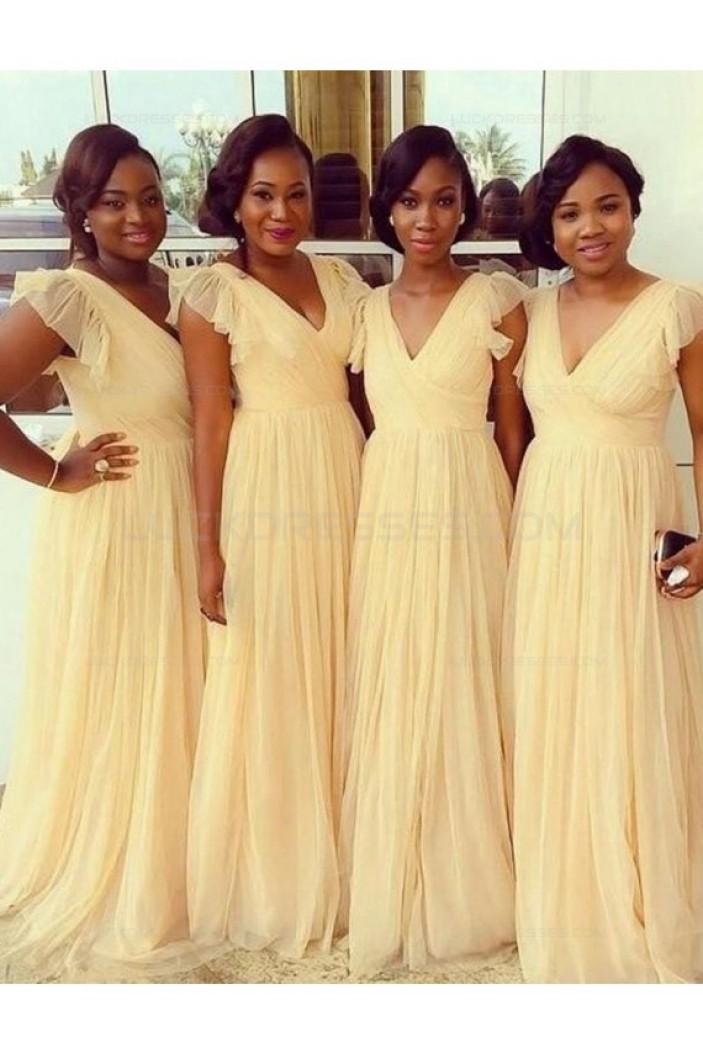 A-Line V-Neck Plus Size Wedding Guest Dresses Bridesmaid Dresses 3010209