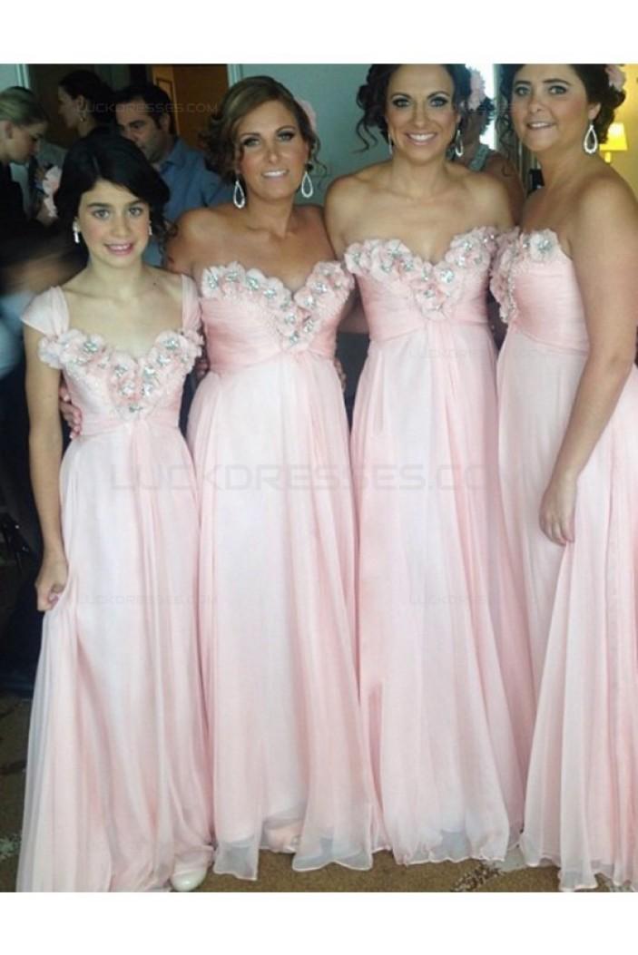 Empire Sweetheart Long Pink Wedding Guest Dresses Bridesmaid Dresses 3010211