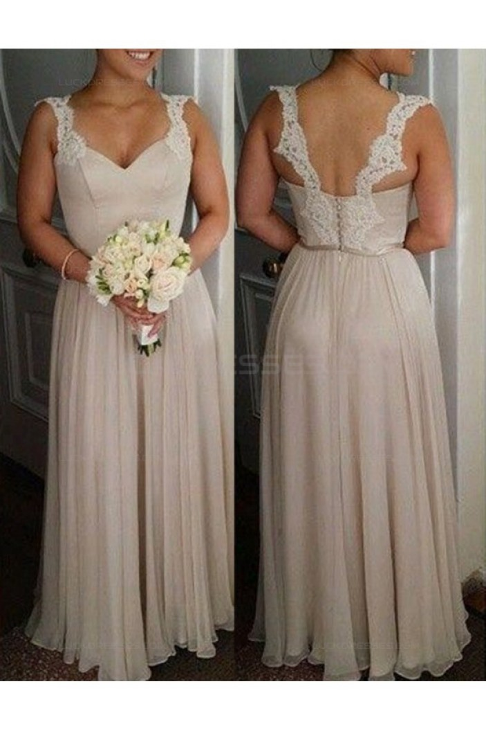 Long Lace Chiffon Wedding Guest Dresses Bridesmaid Dresses 3010215
