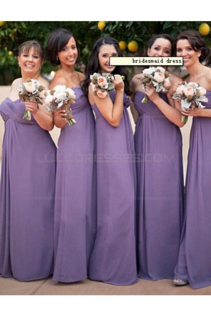 Empire Sweetheart Long Chiffon Plus Size Wedding Guest Dresses Bridesmaid Dresses 3010226