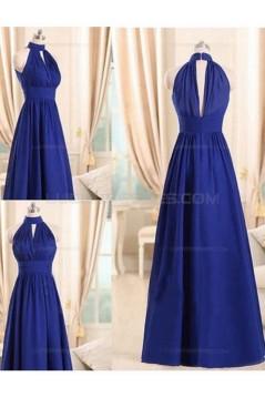 Long Blue Chiffon Wedding Guest Dresses Bridesmaid Dresses 3010235
