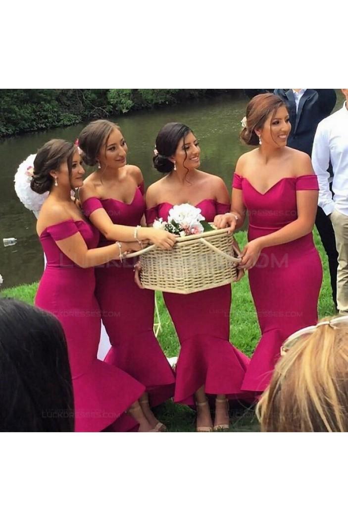Mermaid Off-the-Shoulder Wedding Guest Dresses Bridesmaid Dresses 3010244
