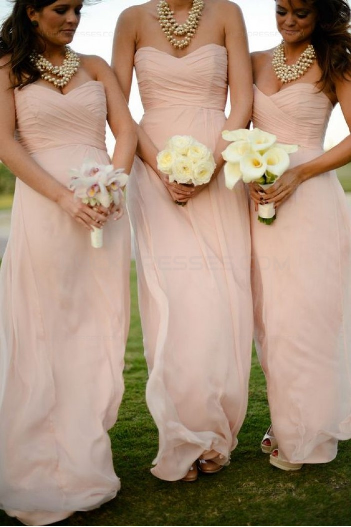 Long Chiffon Sweetheart Wedding Guest Dresses Bridesmaid Dresses 3010247