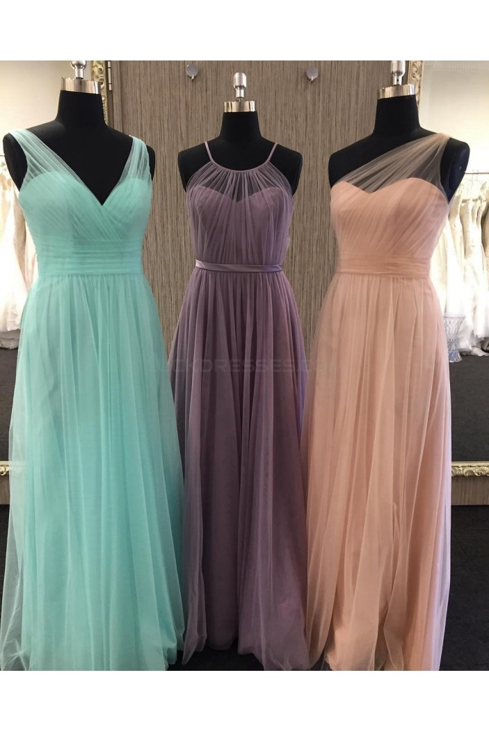 Long Tulle Wedding Guest Dresses Bridesmaid Dresses 3010263
