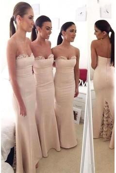 Trumpet/Mermaid Lace Floor Length Wedding Party Dresses Bridesmaid Dresses 3010273