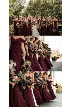 A-Line Simple Spaghetti Straps Long Bridesmaid Dresses 3010312