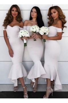 Mermaid Off-the-Shoulder Bridesmaid Dresses 3010313