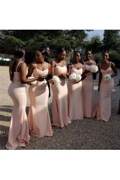 Mermaid Simple Spaghetti Straps Long Bridesmaid Dresses 3010316