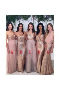 Affordable Sequins Long Bridesmaid Dresses 3010337