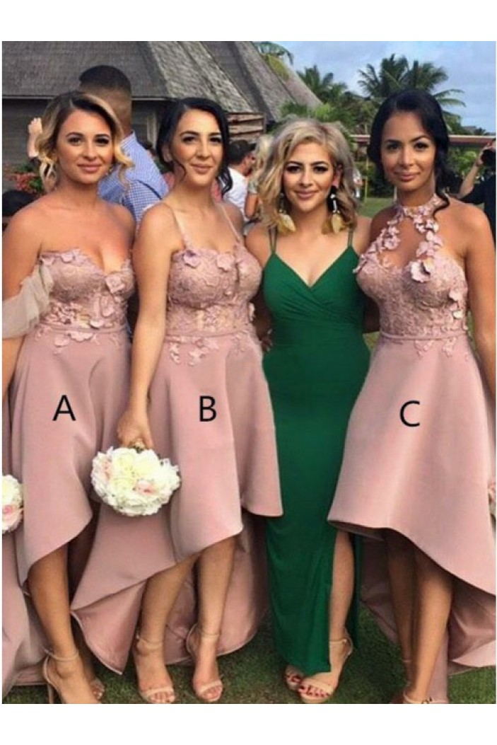 High Low Lace Bridesmaid Dresses 3010341