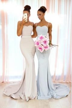 Mermaid Spaghetti Straps Long Bridesmaid Dresses 3010343