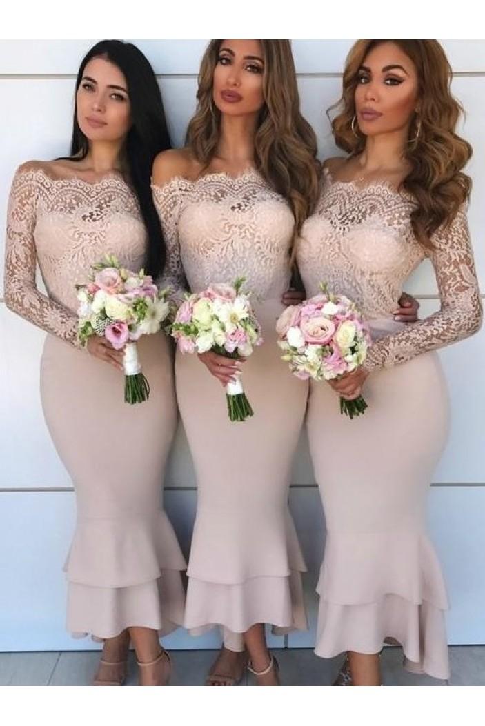 Long Sleeves Lace Bridesmaid Dresses 3010357