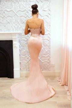 Mermaid Lace V-Neck Long Bridesmaid Dresses 3010358