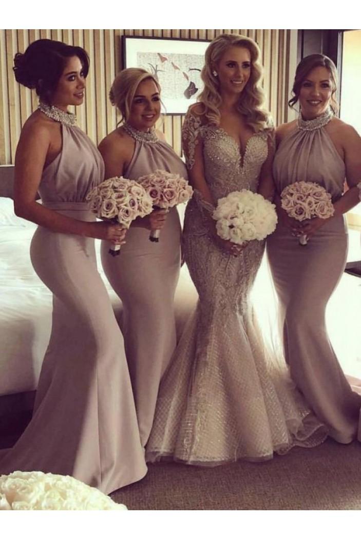 Mermaid Beaded Long Bridesmaid Dresses 3010361