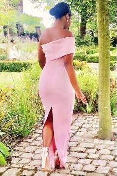 Mermaid Long Pink Bridesmaid Dresses 3010364