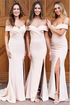 Mermaid Off-the-Shoulder Long Bridesmaid Dresses 3010379