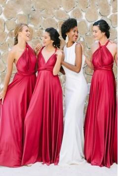 A-Line Long Bridesmaid Dresses 3010385