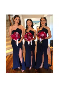 Long Navy Blue Bridesmaid Dresses 3010392
