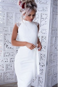 Short Lace Knee Length Bridesmaid Dresses 3010397