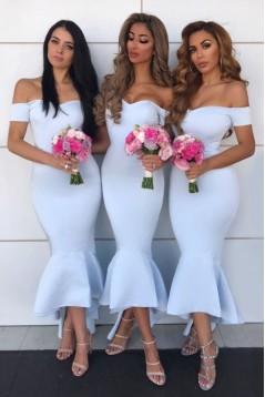 Mermaid Off-the-Shoulder Bridesmaid Dresses 3010402