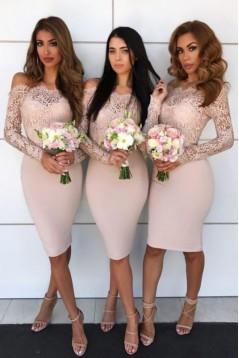 Short Lace White Bridesmaid Dresses 3010403
