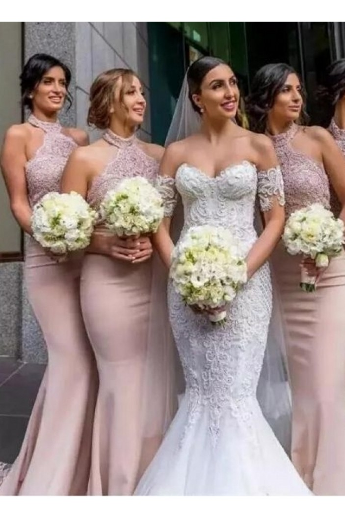 Mermaid Long Lace Bridesmaid Dresses 3010405