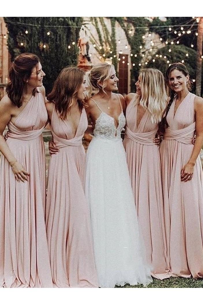 A-Line Long Bridesmaid Dresses 3010406