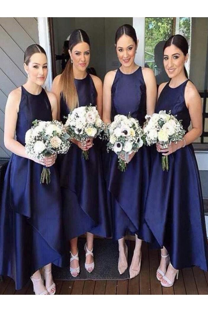 Simple Navy Blue Bridesmaid Dresses 3010408