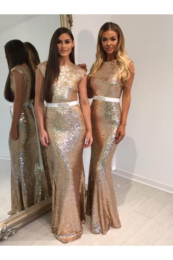 Memraid Sequins Long Floor Length Bridesmaid Dresses 3010413